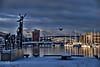 Bergen & Solheimsviken -|- Local marina (erlingsi) Tags: bergen hordaland norway marina bridge bru bruer winter statue reflections snow