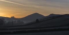 Sunrise (l4ts) Tags: landscape derbyshire peakdistrict whitepeak goldenhour sunrise earlsterndale alderycliff hitterhill frost mist contrails upperdovevalley drystonewalls