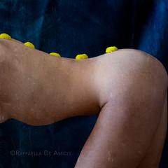 Cumbrance of Yearning (RaffaLUCE) Tags: conceptualphotography flowers yellowflowers woman body humanbody fineartnude humanform femaleform fineartphotographer italianamericanphotographer