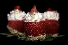 Macro Monday-Say Cheese (lynne186) Tags: macromonday strawberries macro food sweets