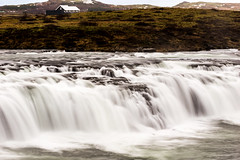 Landscape with waterfall (imagesbystefan.com) Tags: waterfall iceland landscape icelandic nature outdoors faxi tourism attraction landmark natural house home view scenic scenery grass green flow power water fall idyllic beautiful