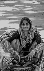 'Smile and show the world you have faith to face life challenges' (Ramalakshmi Rajan) Tags: people blackandwhite blackwhite bw nikond5000 nikon nikkor18140mm woman womensday womensdaywishes potraits portrait india indianwoman indians streetphotography tamilnadu
