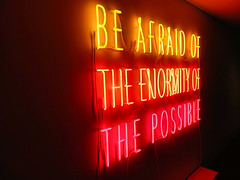 """Be Afraid of the Enormity of the Possible"" (duaneschermerhorn) Tags: art artwork sculpture installation toledo museum gallery"