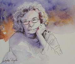 Barb - JKPP (lydie.pieplu) Tags: aquarelle watercolor feutre portrait pittartistpen