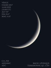v17-03-08T14zWEB (astrorock999) Tags: vénus venus planet planète systèmesolaire solarsystem planétaire planetary imaging imagerie c11 astronomie astronomy