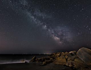 Milky Way over Charlestown beach