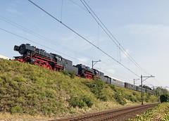 VSM 23076 en 23071 bij Amersfoort Aansluiting onderweg naar Simpelveld, 21 augustus 2015 (hemkes) Tags: eisenbahn rail railway zug ama trein amersfoort steamtrain stoomtrein vsm dampfzug 23071 23076 br23