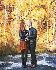 Jemina & Jussi (Anna Luna Photography) Tags: autumn outdoors couple rovaniemi rapids redhead arctic ruska vaattunkikngs annaleenamuotka annalunaphotography
