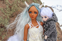 Paseo a Valle Nevado (parfait_poupee) Tags: winter boy snow ice girl kid doll dragon milo emma bjd lina cris mystic supia supiadoll
