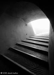 Castel Sant'Angelo (Roma) (David Muoz P.) Tags: light shadow blackandwhite roma castle blancoynegro luz stairs nikon italia sigma tunnel sombra escalera tunel castillo castelsantangelo davidmuoz ligthroom d5100