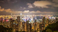 Hong Kong from the peak on a summer's night (Aviation and Travel photography) Tags: world ocean china city summer favorite hk art skyline architecture night canon bug hongkong bay harbor bravo colorful asia exposure flickr downtown nightshot outdoor young fresh adventure explore international photograph shutter stunning thepeak kowloon hdr hkg photograhpy hdrphoto