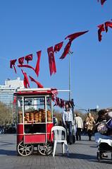 Simitci, Istanbul (daeijan) Tags: travel red turkey istanbul simitci