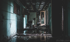 (#Weybridge Photographer) Tags: urban slr abandoned water canon eos hall decay corridor radiation nuclear ukraine hallway adobe disaster discarded dslr zone decaying reactor leaking lightroom chernobyl exclusion urbex pripyat chornobyl 40d