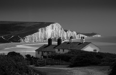 Coast Guard (TS446Photo) Tags: park longexposure sea sky cliff white house seascape black water grass sisters golf landscape sussex mono coast chalk nikon brighton country cottage lifeguard filter national seven lane nd eastbourne seaford dover stacked drown beachyhead manfrotto lightroom 70200mm befree 10stop nikon70200mm 6stop bigstopper triggertrap nikondf