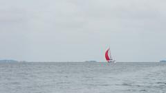 Red on gray (JarkkoS) Tags: sea wallpaper sky water sport espoo finland landscape boat sailing boating fi d800 4k uusimaa 3840x2160 suvisaaristo ultrahd 70200mmf28gvrii