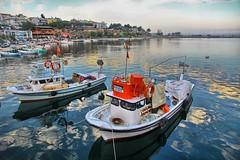 Gerze Sinop (Ömer Ünlü) Tags: ocean travel sea lake port reflections turkey harbor pier boat fishing dock türkiye sinop gerze ömerünlü