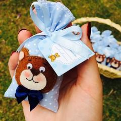 Kit do beb (Pina & Ju) Tags: handmade artesanato bebe beb feltro patchwork maternidade tecido sache ursinho cheirinho lembrancinha