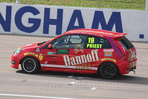 Samuel Priest in Fiesta Racing at Rockingham, Sept 2015