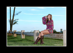 Amber Marie - Fall Fashion (Peter Camyre) Tags: blue portrait sky color fall girl beautiful fashion marie canon fence bench lens photography amber colorful flickr connecticut ct peter vogue pete 5d milford glamor groups fashionable mkiii camyre ef70200lisiiusmf28