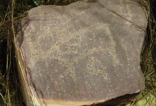 Petroglyphs from Three Maidens, Woodland Period (3000 to 500 B.C.), Pipestone, MN