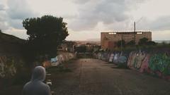 Anche le cose difficili da dimenticare prima o poi saranno solo paranoie lontane! (Caruso Loredana) Tags: sunset clouds graffiti trapani diga