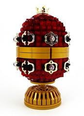 Jewelled Egg: Love (Swan Dutchman) Tags: wedding easter lego egg jewellery gift present ruby jewel fabergé jewelledegg