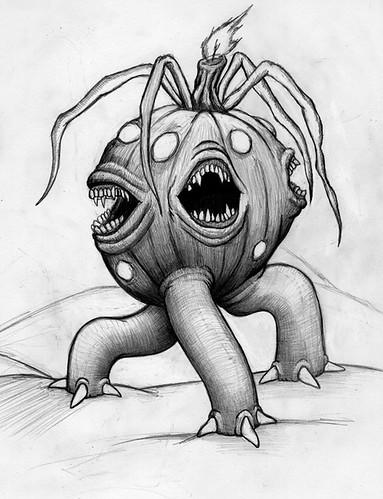 Pumpkin Lord Grand spirit of Samhain (ashley russell 676) Tags: old eve halloween monster pumpkin one sketch drawing spirit ghost great lord samhain vegetation creature hallows mutation