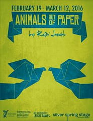 Animals Out of Paper @ Silver Spring Stage (leighrawls) Tags: two animals silver paper out poster joseph design spring theater graphic theatre stage performance screen printing leigh drama tone rawls rajiv