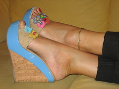 seaside wedges (al_garcia) Tags: feet high shoes toes long sandals heel rough mules soles smelly toenails calloused