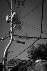Transformers, Bukchon (AdeyH) Tags: street bw white black lights village furniture south korea wires seoul transfromers bukchon hanook