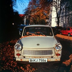automobile (Vinzent M) Tags: autumn berlin tlr germany fuji velvia trabant voigtländer heliar zniv brillant sachsenring