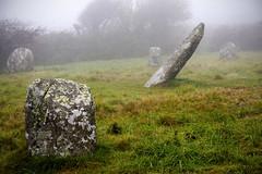 Boscawen-Un Stone Circle, Cornwall (splib1) Tags: mist green circle grey worship cornwall eerie granite quartz bronzeage pagan stonecircle boscawenun boscawenunstonecircle