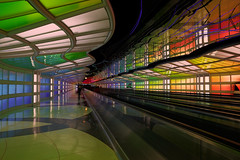 Tunnel (pbuschmann) Tags: travel chicago airport future airlines ord iconic windycity