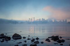 The Plan (bombeeney) Tags: seattle mist lake water misty fog skyline clouds sunrise washington rocks cloudy foggy gasworks pacificnorthwest lakeunion pnw gasworkspark a7r fe2470f4zaoss