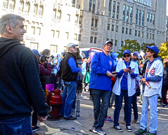 The Moose (tacosnachosburritos) Tags: chicago cubs crowd parade man guy fan woman girl lady autumn baseball north michigan avenue rally chick kids championship world series champs 2016 cheers applauds anticipation joy happy street photography thestreets glory magnificentmile players bus trolley humanity humanrace people