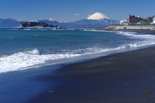 Mt.Fuji and Enoshima  富士山と江の島