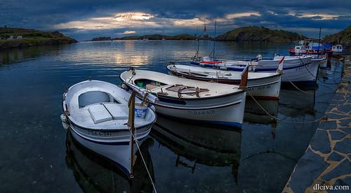 Fisherman boats in Cala Port Lligat, Cadaques