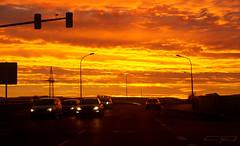 Morning (clé manuel) Tags: sunrise sun sonnenaufgang morning sonne morgen sunset sky beautiful street cars orange red himmel