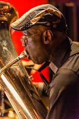 Charlie Haden's Band Tuba! (Tempesto) Tags: henrygrimes ny manhattan newyork nyc newyorkcity margret 116east27thstreet jazzstandard marcpalumbo charliehadensliberationmusicorchestracarlabley nikond800 lexingtonave