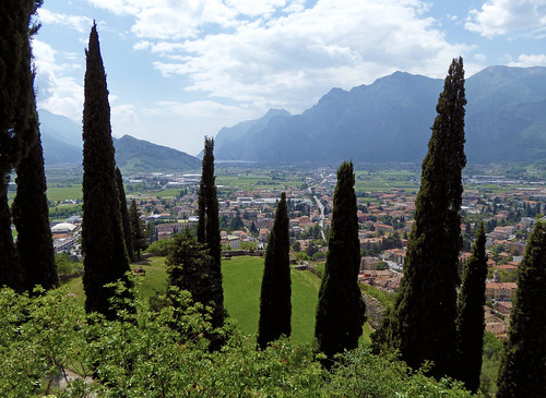 View Castello di Arco to Lago di Garda.