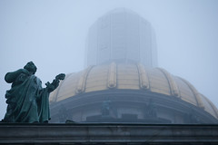 Isaakievsky cathedral (Valya V) Tags: canon city cathedral mist fog architecture arch winter russia 5d cityscape