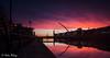 Dublin 17 December 16 1 (Helen Mulvey) Tags: dublin ireland sunrise samuel beckett bridge reflection riverliffey river silhouette long exposure dawn red sky clouds outdoor landscape cityscape city nikon d5100