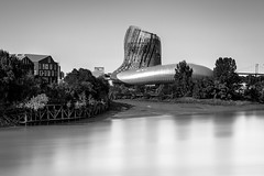 Cité du Vin (Fabien Georget (fg photographe)) Tags: bordeaux cité du vin wine city architecture bw blackandwhite noiretblanc longexposure elitephotographie water supershot supershotaward sunrise theworldthroughmyeyes sky shot elitephotography elmundopormontera landscape sun autumn poselongue beautiful canoneos600d fabiengeorget bigfave beautifulearth canon cloudsstromssunsetandsunrise flickrdepot mordudephoto flicker flickrunitedaward flickr greatphotographer geotagging georget fgphotographe paysage asbeautifulasyouwant eau long exposure citéduvin monochrome waterscape winecity