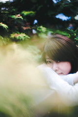 don't know how to tell ya (hurtingbombz) Tags: sonnetar fujifilm xt2 osaka girl portrait bokeh dof f11 winter cold