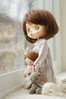 Oh Stormy Weather (little ❤ lovelies) Tags: jerryberry jerry somanystars bjd ball jointed resin doll littlelovelies handmade handcrafted plush dolly dollhouse little mori girl bear vintage lace cotton dresses silk scarf pokadots blanket