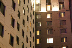 Marriott Del Mar (Curtis Gregory Perry) Tags: sandiego california marriott del mar hotel building lodging room window night longexposure nikon d800e 85mm