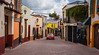2016 - Mexico - Tequisquiapan - Taxi (Ted's photos - For Me & You) Tags: 2016 cropped mexico nikon nikond750 nikonfx queretaro tedmcgrath tedsphotos tedsphotosmexico tequisquiapan vignetting pueblomágico magictownsofmexico streetscene street tequis tequisqueretaro tequisquiapanqueretaro vehicle taxi streetlamp people peopleandpaths magictownofmexico