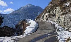 Branson (bulbocode909) Tags: valais branson fully maisons routes montagnes hiver neige nuages paysages bleu nature