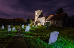 A Walk Among the Tombstones (Daniel Borg) Tags: 1740 6d blue camera canon canon1740l canon6d church colours danielborg eerie fullframe gravely graveyard green hertfordshire led light lightpainting lights longexposure night other places sky stmaryschurch statue stones tombstones uwa ultrawideangle wideangle