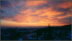 Sunset, winter (Marie Helèn) Tags: winter oslo pink landscape skyscape cityscape amazing sky amazingsky colorsarebeautiful splendidshotz travel norway